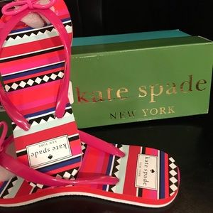 BRAND NEW!💗 authentic KATE SPADE ♠️ flip flops✨